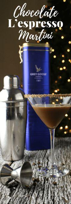 Msg 4 21+ #ad Chocolate L'espresso Martini, #GiftAndShare, holiday cocktail, vodka cocktail