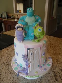 Instead of a groom's cake at my wedding, I want my husband to surprise me with this: Monsters Inc. cake