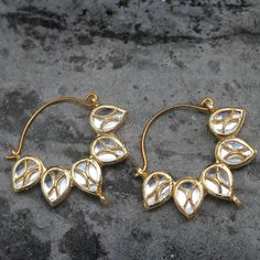 YAMINA EARRINGS  by Indiatrend. Shop Now at WWW.INDIATRENDSHOP.COM