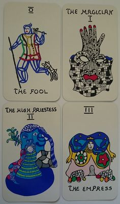 Niki de Saint Phalle Tarot Cards - חיפוש ב-Google French Sculptor, The Empress, Major Arcana, Conceptual Art, Tarot Decks, Various Artists, Deck Of Cards, Tarot Cards, Pattern Art