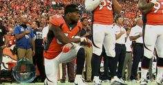 LB Brandon Marshall supports Colin Kaepernick by taking knee during anthem