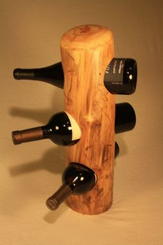 Driftwood - wine rack. $60.00, via Etsy.