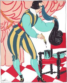 """Sergio Tofano, """"Le nozze di Barbablù"""", illustrazione tratta da """"I cavoli a merenda"""", 1920."""
