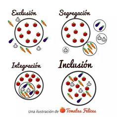 Exclusión, segregación, integración e inclusión.
