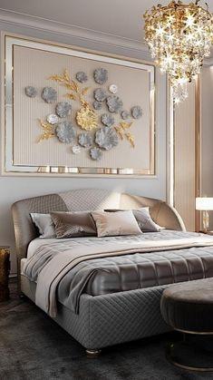 Living Room Sofa Design, Bedroom Furniture Design, Luxury Bedroom Design, Master Bedroom Design, Luxury Home Decor, Bedroom Decor For Couples, Home Decor Bedroom, Bedroom Ideas, Stylish Bedroom
