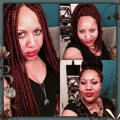 DIY Box braids, protective style w/a little color #350