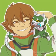 """lanauu: """" Changed the kitty to their robot kitty instead, mainly so I could use it as my phone BG. Figured I'd share it too. Will prolly do more with Pidge and mini green lion cause it was really fun to draw mecha. """""""