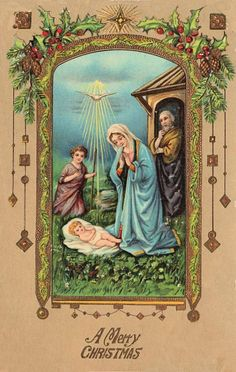 Vintage Christmas Postcard - Baby Jesus - The Graphics Fairy
