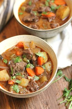 Slow Cooker Beef Stew is a winter weather dream meal. Throw everything in your crock pot and come home to a warm bowl of deliciousness.