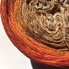"0,03EUR/m, 600m Bourette-Seide/Wolle/PA ""Kürbisernte"" Tweed, Hand Knitting Yarn, Silk Wool, Harvest, Pumpkin, Make It Happen, Knots, Wool, Threading"