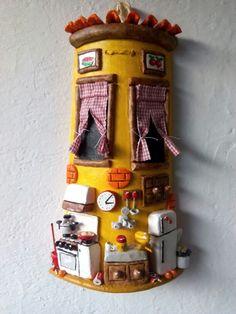 Teja decorada cocina