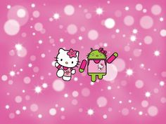 ANDROID HELLO KITTY TABLET WALLPAPER O Pink Background Images Hd Wallpaper Backgrounds