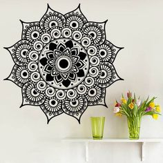 Mandala Wall Art Sticker Decals Yoga Namaste Indian Boho Bedding Decal Vinyl Home Decor Nursery Meditation Bedroom Dear Buyers, Welcome to our shop VinylDecals2U! ★ SIZE AND COLOR ★ Approximate Item Sizes: 22 Tall x 22 Wide 28 Tall x 28 Wide 38 Tall x 38 Wide If this size is inappropriate for you, you can contact us and provide your dimensions and we can create for you decal of any size. ✓✓✓Please note that any changes of the decal dimensions will result in the price change.Just contact u...