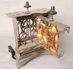 Electric Toaster from 1915 Tostadas, Vintage Toaster, Electric Toaster, Toast Rack, Vintage Appliances, Photo Vintage, Kitchen Collection, Objet D'art, Vintage Colors
