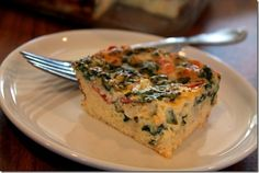 Veggie Egg Casserole w/ Cottage Cheese for Creamy-ness