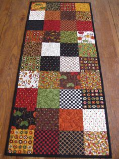 Saltbox Harvest by Moda Table Runner by Quiltedhearts5 on Etsy