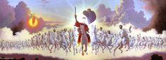 "Bowl of Wrath ""Armageddon"" ""Euphrates"" - Biblical Interpretation! Revelation 19, Heaven, Bible, Horses, The Originals, Gallery, Armies, Books, Painting"