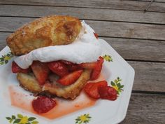The best, ever strawberry shortcake filled with red-ripe strawberries and clouds of whipped cream.