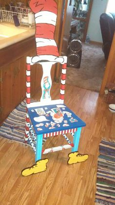 Genial Super Cute Chair My Mom And I Painted To Go With My Dr Seuss Theme Classroom
