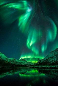 Aurora over Olderdalen - astronomy Landscape Photos, Landscape Photography, Nature Photography, Night Photography, Scenic Photography, Waterfalls Photography, Beautiful Sky, Beautiful Landscapes, Beautiful Scenery
