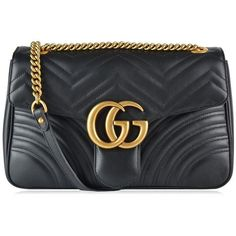 Gucci Gg Marmont Matelasse Shoulder Bag ($1,660) ❤ liked on Polyvore featuring bags, handbags, shoulder bags, gucci handbags, real leather purses, leather shoulder bag, oversized purses and oversized leather handbags