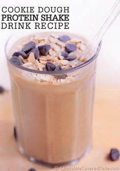 Make yourself a Cookie Dough Protein Shake to start your day – don't forget to top it off with Quaker® Oats and chocolate chips!