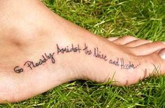 Go Placidly Amidst the Noise and Haste... #tattoo