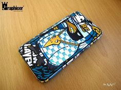 Hiphop crow RAVEN.    iPhone graphicer skin & hard case tuning  - designed by DOLDOL