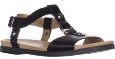 Naturalizer Kameron Flat Comfort Sandals, Black.