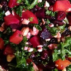 "Roasted Beet and Kale Salad | ""I recently brought this to a potluck and it was one of the most popular dishes! Really great flavor and texture, plus it's very filling."""