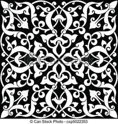 patrones arabesco | Vectores de arabesco, azulejo, patrón, colores, fácilmente, editable ...