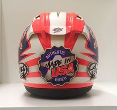 Nicky Hayden 2017. Pretty much the only view I'd have of his last helmet