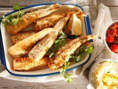 Beer batter fish with salsa