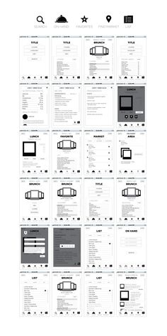Wireframes for an iPhone app More at : Softwarelint.com