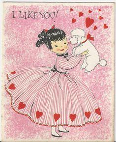 1950 Poodle Vintage Valentine