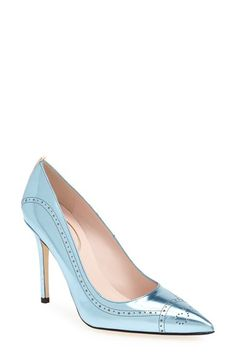 SJP by Sarah Jessica Parker 'Marlene' Brogue Detail Pointy Toe Pump  (Nordstrom Exclusive) available at #Nordstrom | 375