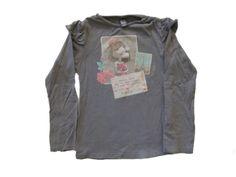 Ref. 900413- Camiseta ML - Zara- niña - Talla 4 años - 4€ - info@miihi.com - Tel. 651121480
