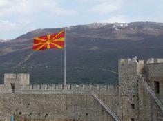 Ohrid - Macedonian flag