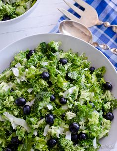 This coconut, broccoli and blueberry salad is perfect for your Fourth of July soirée!