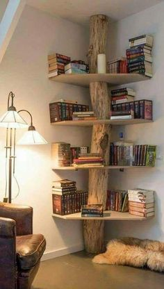 Trendy Ideas For Home Ideas Wood Bookshelves Living Room Chairs, Home Living Room, Living Room Decor, Blue Velvet Dining Chairs, White Chairs, Black And White Chair, Black White, Wood Bookshelves, Tree Bookshelf