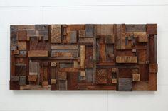 Wood wall art of geometric shapes  52x24x4.25 by CarpenterCraig, $1600.00