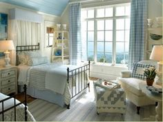 Substitute a cornice in place of the usual canopy for your bed.