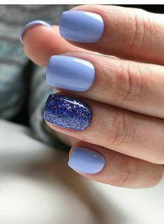 15 Pretty Acrylic Blue Nails Design For Summer Nails Makeup - : light Blue nails design dark blue nails acrylic blue nails short square nails design summer nails ideas blue square nails design pretty short nails ideas Acrylic Nails Light Blue, Blue Glitter Nails, Light Blue Nails, Long Acrylic Nails, Nail Art Blue, Blue Gel Nails, Nail Design Glitter, Nails Design, Light Blue Nail Designs