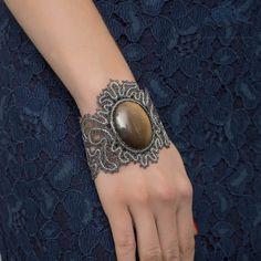 "Bobbin lace bracelet ""Princess of Monaco"" Russian bobbin lace handmade"