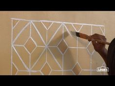 DIY: faux hand-painted tile backsplash