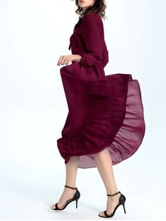 GET $50 NOW | Join RoseGal: Get YOUR $50 NOW!http://www.rosegal.com/maxi-dresses/flounce-maxi-dress-with-bow-965373.html?seid=6822905rg965373