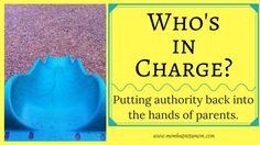 Who's in Charge? Putting authority back into the hands of parents | Mom but not a Mom
