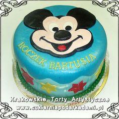 046. Płaski tort z Myszką Mikki. Mikki mouse cake.