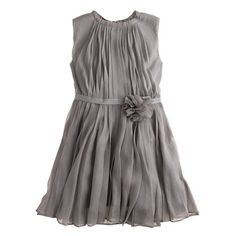 J.Crew - Girls' rosette dress in crinkle chiffon