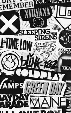 the vamps // // coldplay // a day to remember // you me at six // nirvana // sleeping with sirens // all time low // // the 1975 // mayday parade // fall out boy // arctic monkeys // green day Arctic Monkeys, A Day To Remember, Black Veil Brides, Green Day, Nirvana, I Love Music, Music Is Life, Rock Tumblr, Paris Illustration